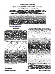 Oxygen vacancy related distortions in rutile TiO2 nanoparticles: A ...