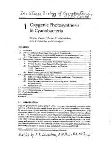 Oxygenic Photosynthesis in Cyanobacteria. In - life.illinois.edu
