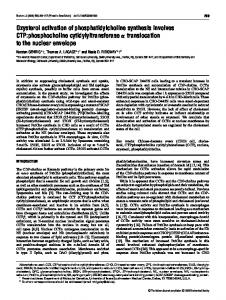 Oxysterol activation of phosphatidylcholine synthesis involves CTP ...