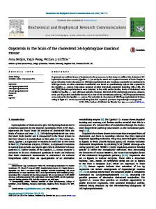 Oxysterols in the brain of the cholesterol 24-hydroxylase ... - Core