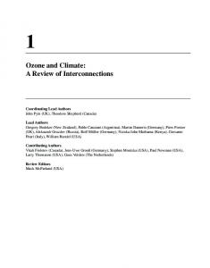 Ozone and Climate - IPCC