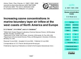 Ozone concentration trends - College of Natural Resources