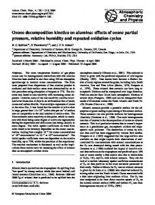 Ozone decomposition kinetics on alumina: effects