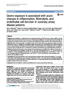 Ozone exposure is associated with acute changes