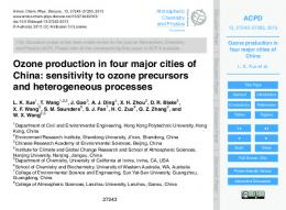 Ozone production in four major cities of China - ACPD