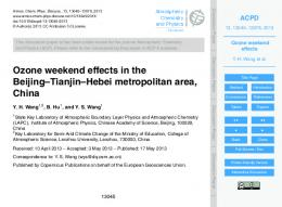 Ozone weekend effects - CiteSeerX