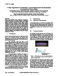 P-156: Alignment of Ferroelectric Liquid Crystals with the ... - HKUST