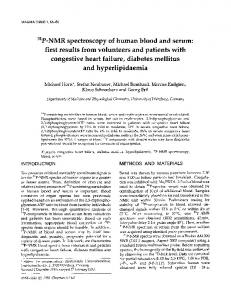 P-NMR spectroscopy of human blood and serum - Springer Link