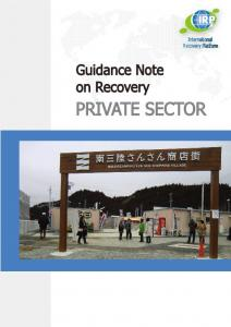 p private sector - International Recovery Platform