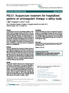 P02.51. Acupuncture treatment for hospitalized ...