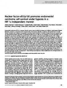 p100 promotes endometrial carcinoma cell survival under ... - Nature