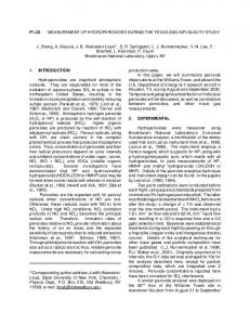 P1.22 MEASUREMENT OF HYDROPEROXIDES DURING THE
