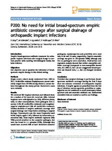 P200: No need for initial broad-spectrum empiric antibiotic coverage ...