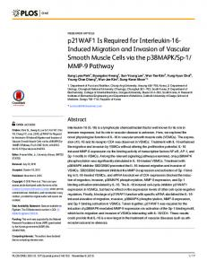 p21WAF1 Is Required for Interleukin-16-Induced Migration and ...