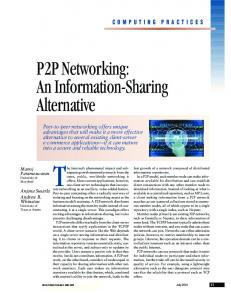 P2P networking - Donald Bren School of Information and Computer ...