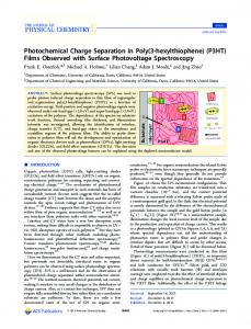 P3HT - American Chemical Society