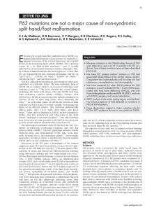 P63 mutations are not a major cause of non ...