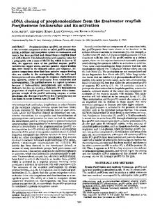 Pacifastacus leniusculus and its activation - Europe PMC
