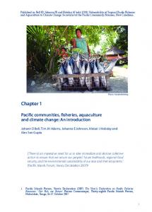 Pacific communities, fisheries, aquaculture and climate change: An ...