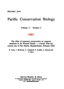 Pacific Conservation Biology
