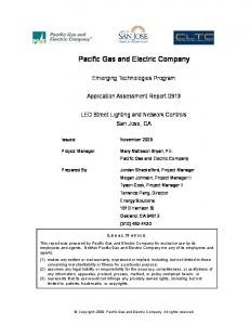 Pacific Gas and Electric Company - The Emerging Technologies ...