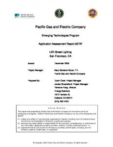 Pacific Gas and Electric Company - The Emerging Technologies