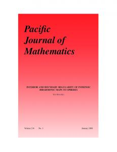 Pacific Journal of Mathematics - Mathematical Sciences Publishers