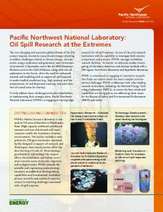 Pacific Northwest National Laboratory: Oil Spill ...