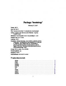 Package 'bootstrap'