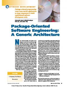 Package-Oriented Software Engineering: A
