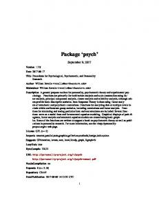 Package 'psych'