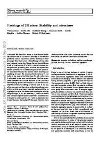Packings of 3D stars: Stability and structure