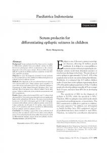Paediatrica Indonesiana Serum prolactin for differentiating epileptic