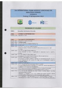 Page 1 2nd INTERNATIONAL YOUNG SCIENTIST CONFERENCE on ...