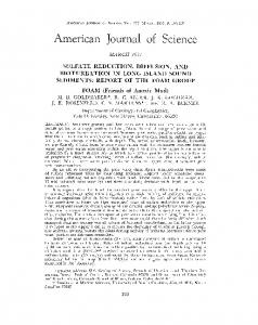 Page 1 AMERICAN JOURNAL OF SCIENCE, Vol. 277, MARCH, 1977 ...