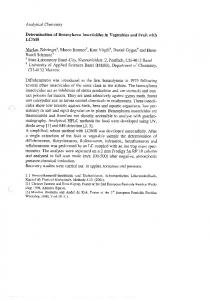 Page 1 Analytical Chemistry Determination of Benzoylurea ...