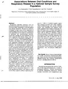 Page 1 Associations Between Oral Conditions and Respiratory ...