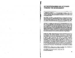 Page 1 AUTHORITARIANISM AND ATTITUDES TOWARD THE ...