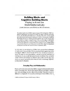 Page 1 Building Blocks and Cognitive Building Blocks Playing to ...