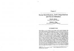 Page 1 Chapter 8 Social Identification, Self-Categorization and Social ...