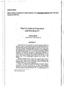 Page 1 CHAPTER FROM: Hayes, Graham R. & Michael H. Bryant ...