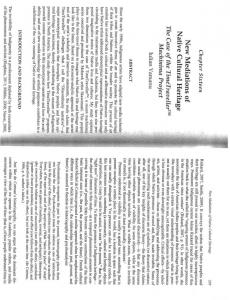 Page 1 Chapter Sixteen New Mediations of Native Cultural Heritage ...