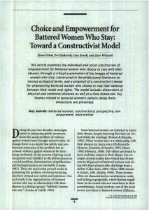 Page 1 Choice and Empowerment for Battered Women Who Stay ...