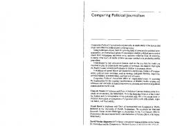 Page 1 Comparing Political Journalism Comparing Political ...