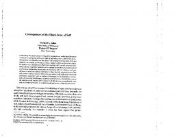 Page 1 Consequences of the Black Sense of Self Richard L. Allen J ...