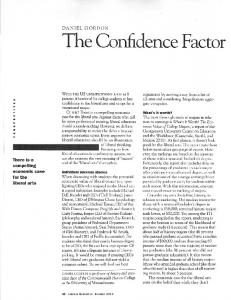 Page 1 DANIEL GORDON The Confidence Factor WITH THE US ...