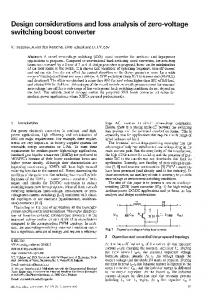 Page 1 Design considerations and loss analysis of zero-voltage ...