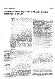 Page 1 Difficult-to-treat depression Research Difficult-to-treat ...