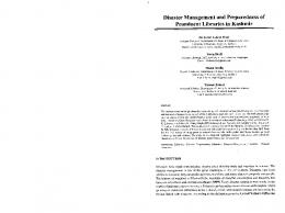 Page 1 Disaster Management and Preparedness of Prominent ...