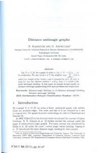 Page 1 Distance antimagic graphs N. KAMATCHI AND S ...